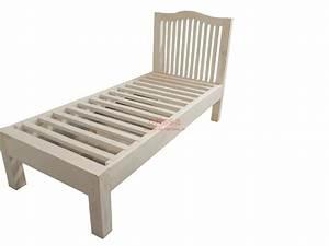 Letto singolo in legno massello con testata or135 for Testata letto in legno