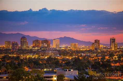 Black Desert Hd Wallpaper Phoenix Skyline At Sunset Dan Sorensen Photography