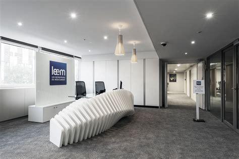 amenagement bureau design aménagement de l 39 espace d 39 accueil et mobilier leem