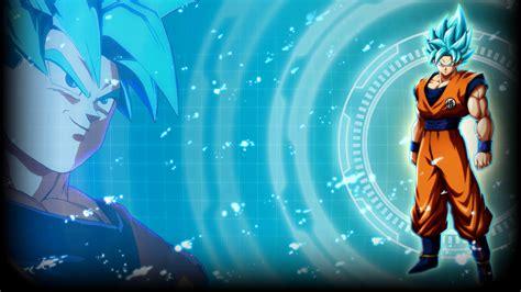 super saiyan blue goku dragon ball fighterz wallpapers
