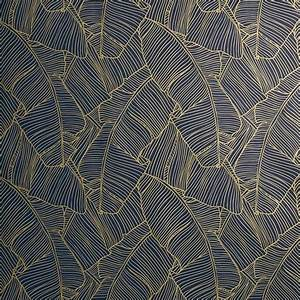 CB2 Palm Navy And Gold Self Adhesive Wallpaper 100