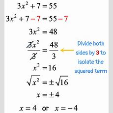Solving Quadratic Equations By Square Root Method Chilimath