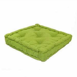 Coussin Vert Anis : coussin de sol 50 cm etna vert anis coussin de sol et pouf eminza ~ Teatrodelosmanantiales.com Idées de Décoration