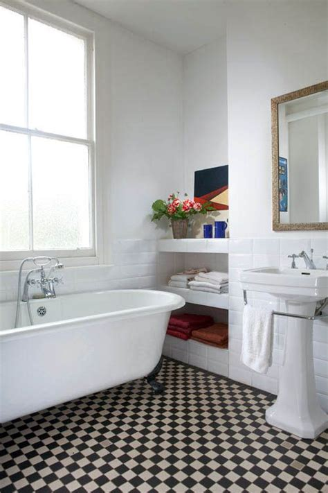 Retro Modern Bathroom Ideas by Vintage Modern Bathrooms Checkerboard Floor Home