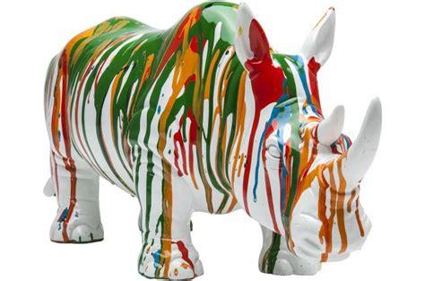 livre de cuisine pour homme deco figurine rhino vert statue design pas cher