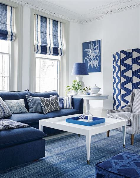 Htons Blue Living Room by Homes Gardens Blue White Living Room Home Decorating