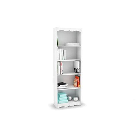 sonax hawthorn 48 inch tall bookcase frost white outdoor