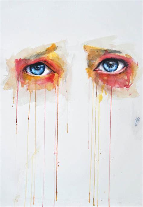 watercolor eye illustrations  jone bengoa ilikethesepixels