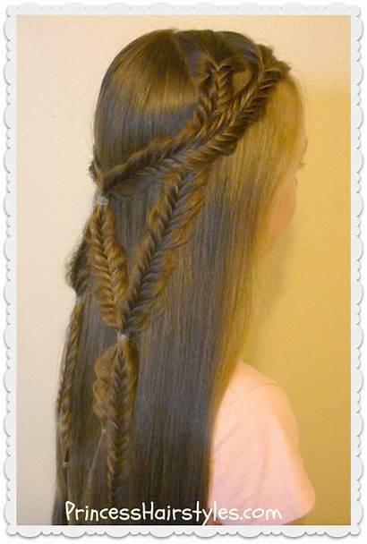 Angel Braid Fishtail Hairstyle Wings Tie Hair