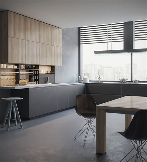 design own kitchen kitchen 3d visualization poliform on behance 6605