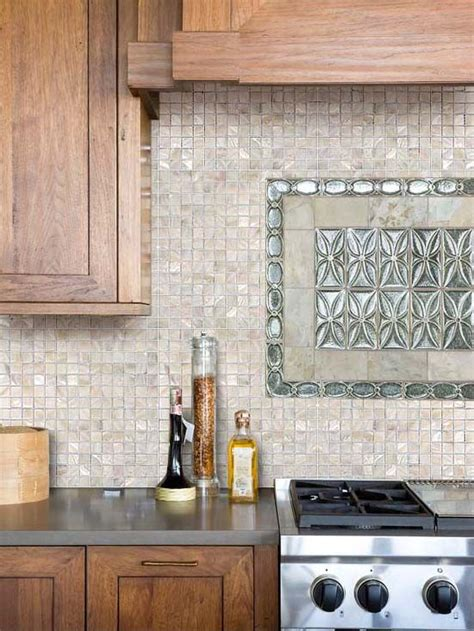 cream    pearl shell tile kitchen wall tiles