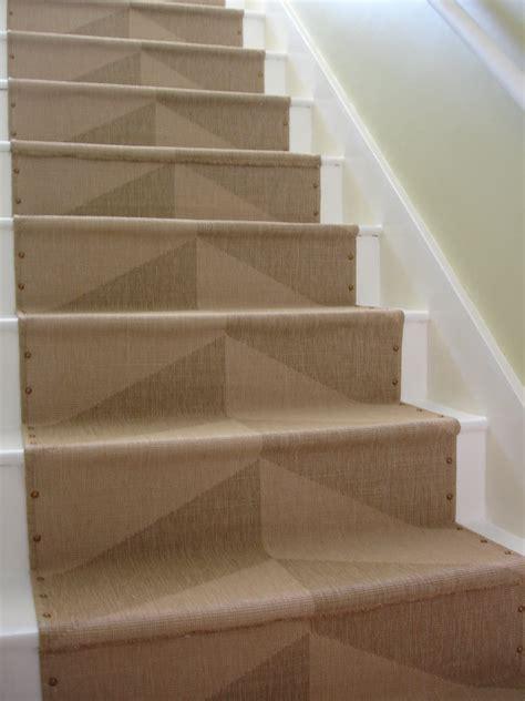 stair runners loft cottage diy nailhead stair runner