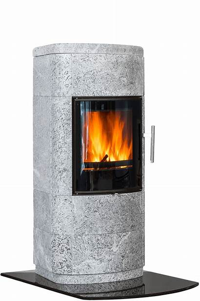 Norsk Kleber Marcello Wood Soapstone Heater Burning