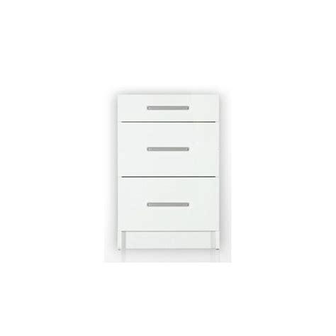 meuble cuisine 90 cm meuble bas de cuisine 3 tiroirs 90 cm tara laqué brillant