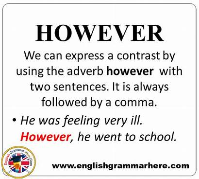Example Sentences Conjunctions Detailed Grammar Expression English