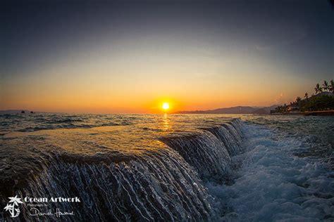 sunset  candi dasa bali ocean artwork