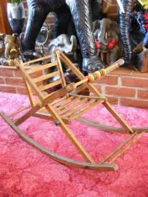 vintage antique baby childs wooden rocking chair rocker