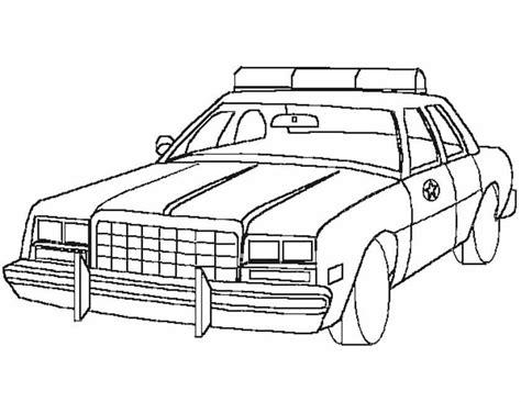 kleurennu amerikaanse politiewagen kleurplaten