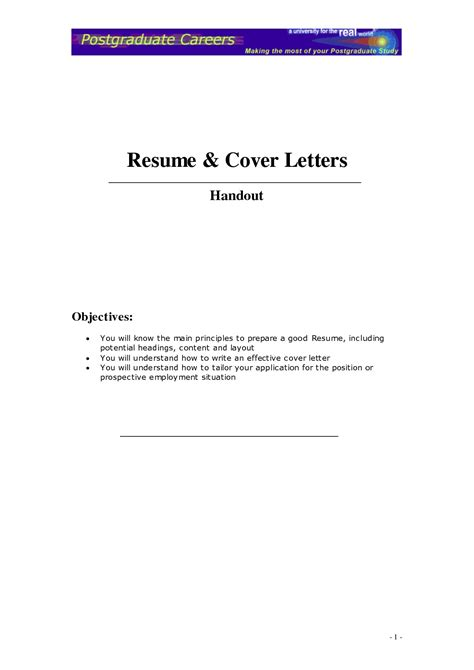 create  cover letter   resume project scope