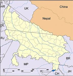 India Map Uttar Pradesh