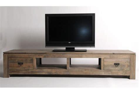 vente bureaux lyon meuble tv hifi hévéa massif grisé 2 tiroirs 2 niches