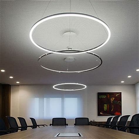 pendant light modern design living led ring ceiling lights