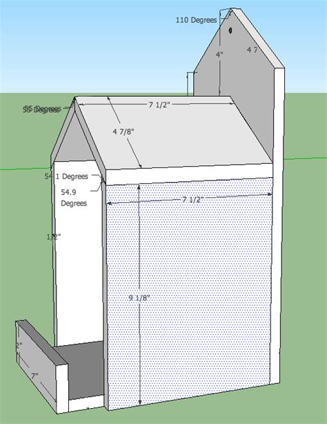 open box robin bird house plans birdhouses pinterest