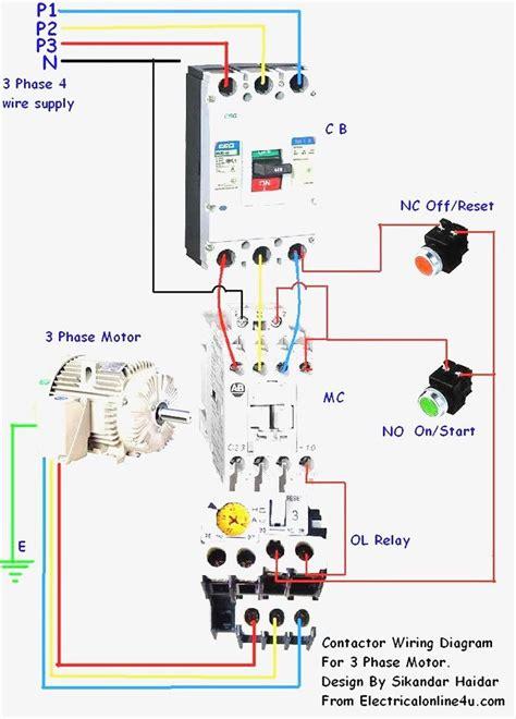 magnetic contactor wiring diagram    diagram
