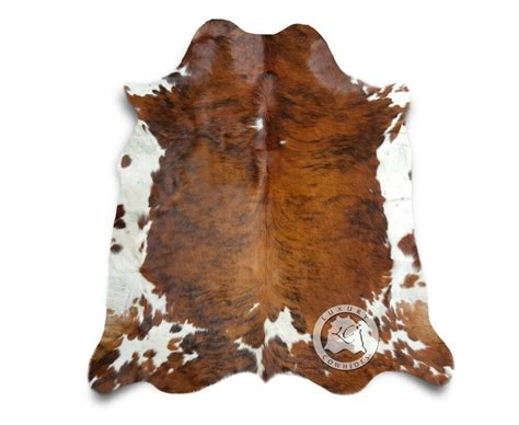 Cowhide Carpets by New Cowhide Rug Brindle Tricolor 6 X7 Cow Skin Rug