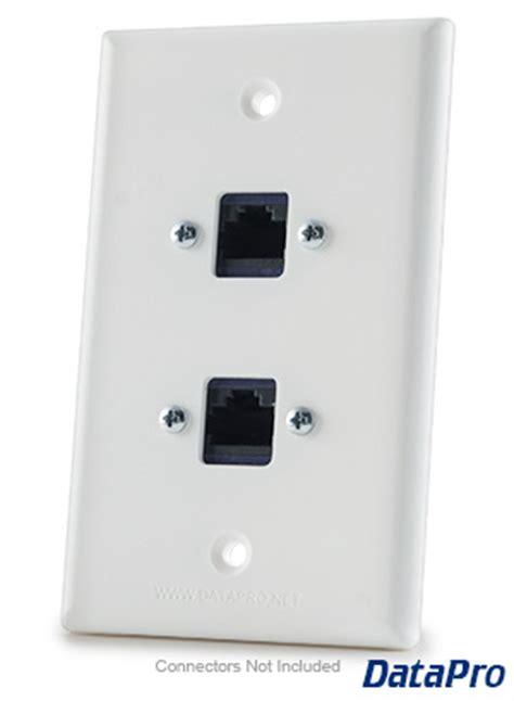 dual rj ethernet cat ecat  wall plate datapro