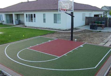 Halfcourt Basketball Dimensions Concrete  Hoops Backyard