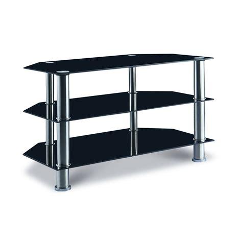meuble bureau en verre deco in meuble tv en verre noir trio tv trio