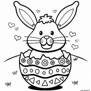 Coloriage De Paque : coloriage lapin de paques oeufs coeurs dessin ~ Melissatoandfro.com Idées de Décoration