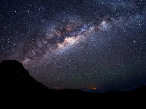 Starry Night Stars Landscape Milky Way Long