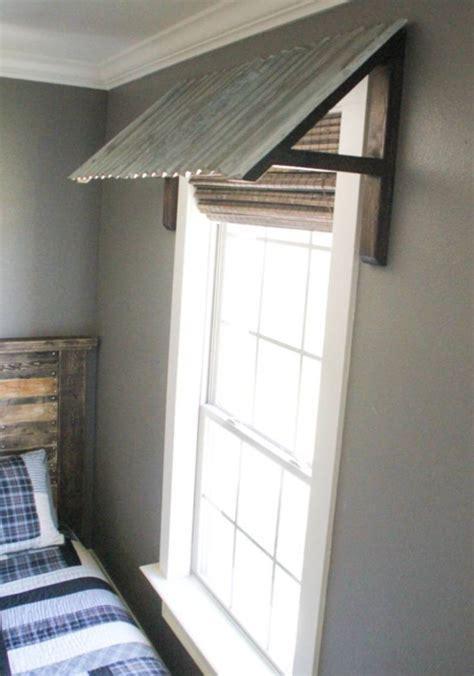 rustic galvanized wood awning window valance custom window treatment wood valance box rustic