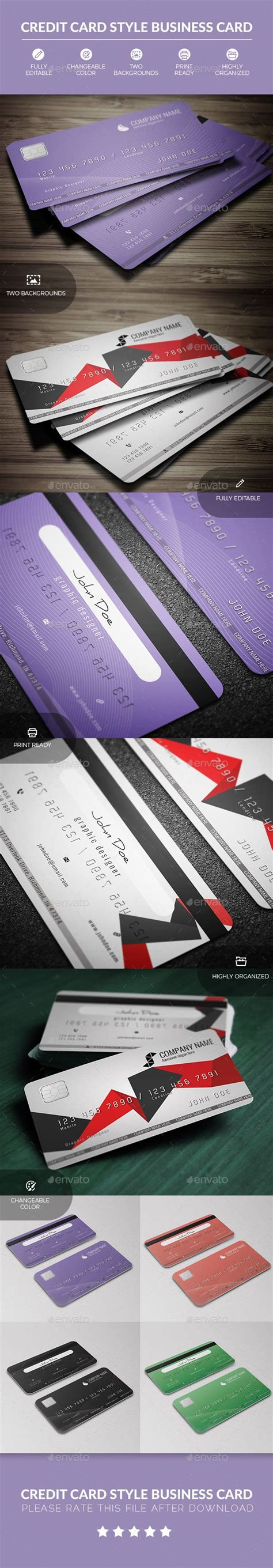 credit card style business card  images business