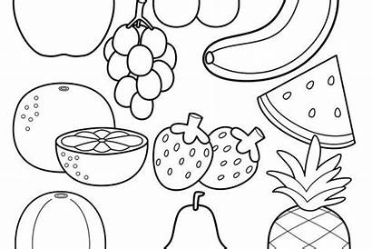 Coloring Pages Homemade Healthy Happiness Fruit