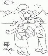 Coloring Winter Preschool Kindergarten Printable Season Age Popular Duathlongijon Template sketch template
