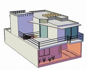 3d De Casa Habitacion En Autocad