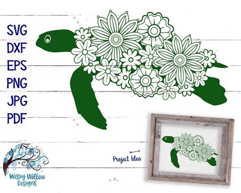 Perfect for ☁ purchase includes 4 zip folders with each design in svg/png/dxf/pdf/jpeg file formats for use in cricut design space, and the. Floral Turtle SVG, DXF, png, Sea Turtle, Summer SVG ...