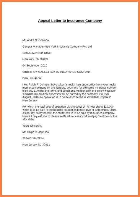 insurance letter template insurance appeal letter letter template