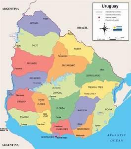 Mapa político do Uruguai