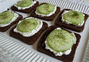 Cucumber Dill Sandwiches Appetizer