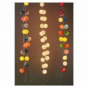 Guirlande Photo Lumineuse : guirlande lumineuse boules 7 cm funky x1 perles co ~ Teatrodelosmanantiales.com Idées de Décoration