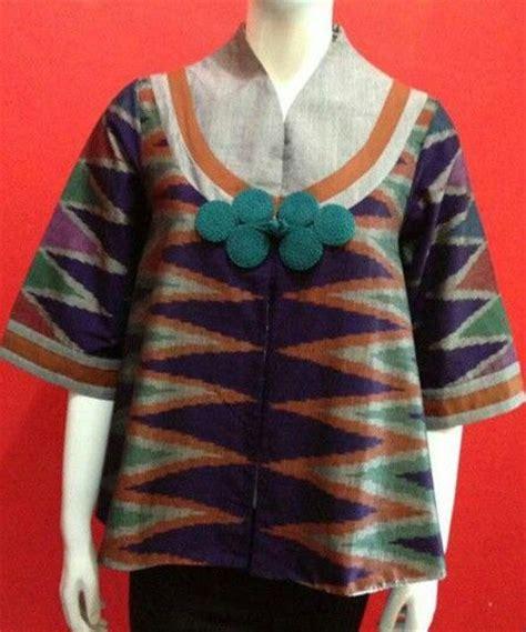 blouse bordir 1 model baju batik kerja wanita 2015 model baju terbaru
