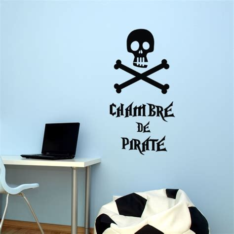 sticker mural chambre sticker chambre de pirate stickers citation texte