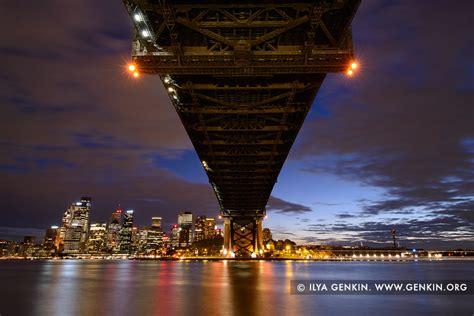 harbour bridge  night  sydney