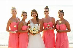 tropical coral bridesmaids dresses beach wedding koh With coral dress for beach wedding