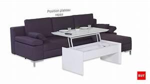 Table Basse Tv : table basse avec plateau relevable tommy but youtube ~ Melissatoandfro.com Idées de Décoration