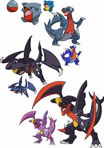 443, 444 and 445 - Gible Evolutionary Line by Tails19950 ...